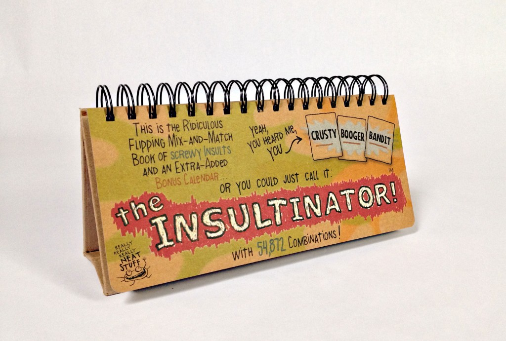 the insultinator, new, kickstarter, fun, insult, calendar,